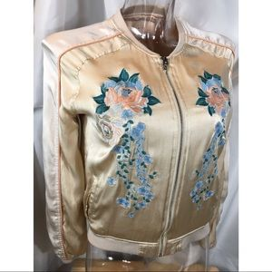 Blank NYC Embroidered Floral Soft Rayon Jacket